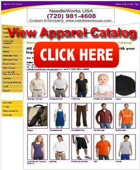 Apparel embroidery catalog